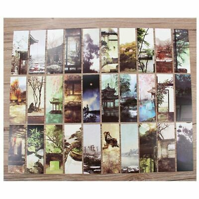 30pcs Chinese Style Paper Bookmarks Painting Cards Retro Commemorative Gifts