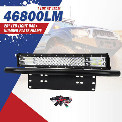 """20Inch Cree Led Light Bar Combo Beam Work Driving Lamp + 23"""" Plate Frame 4WD"""