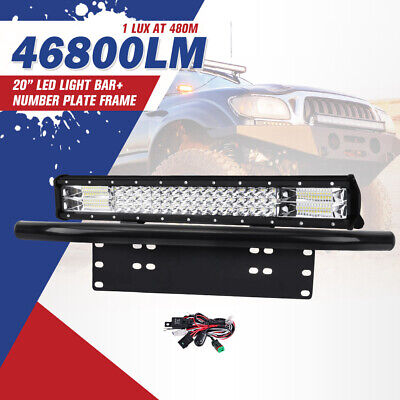 20inch Cree LED Light Bar Work Driving Combo Beam Free Wiring Offroad 4WD Truck