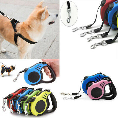 5M Retractable Dog Lead Tape Extendable Leash Pet Puppy Training Walking Rope AS