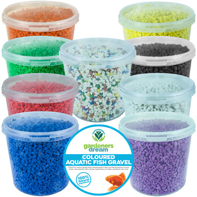 GardenersDream Coloured Aquatic Gravel - Natural Aquarium Fish Stone Substrate