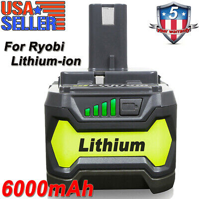 New 6.0Ah 18 VOLT P108 for RYOBI 18V ONE+ PLUS Lithium-Ion High Capacity Battery