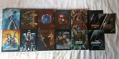 Lot 10 blu ray steelbook marvel