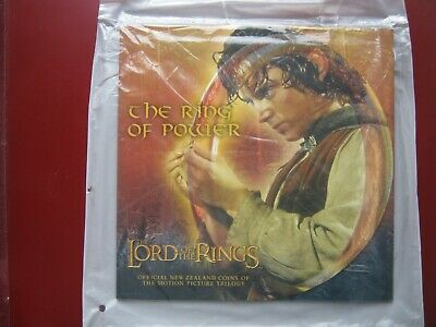 New Zealand 2003 LORD OF THE RINGS $1 Dollar UNC Coin Sealed Royal Mint Folder