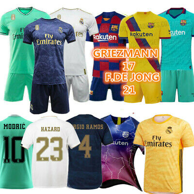19/20 Kids Football Full Kits Youth Custom Soccer Jerseys Strips Children Outfit