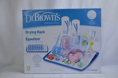 Dr. Brown's Universal Baby Bottle Drying Rack Easy Storage Long Posts  NEW