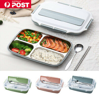 New Lunch Box Stainless Steel Thermal Bento Box Children Divided Food Container