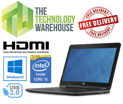 Dell Latitude E7240 Thin and lightweight I5 Laptop with SSD and Windows 10 Pro