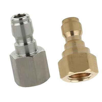 2xQuick Release Connector Coupler Fitting for High Pressure Washer Hose D+B