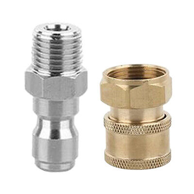 2xQuick Release Connector Coupler Fitting for High Pressure Washer Hose A+E