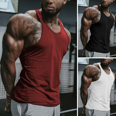 Men Gym Sleeveless Muscle Vest Stringer Vests Sports Bodybuilding Tee Shirt