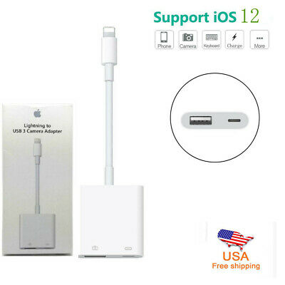 Lightning to USB Female OTG Adapter Cable With Charging for phone XR/X/8/7/6 US
