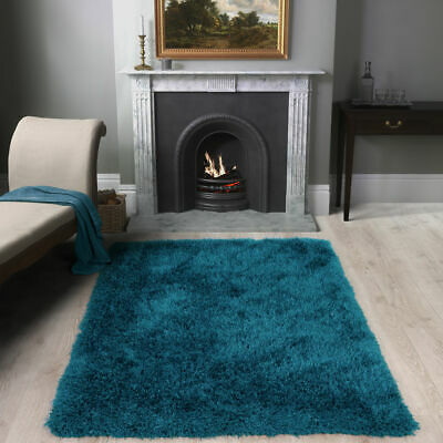 SHAGGY RUG 50mm HIGH PILE TEAL EXTRA LARGE THICK SOFT LIVING ROOM FLOOR BEDROOM