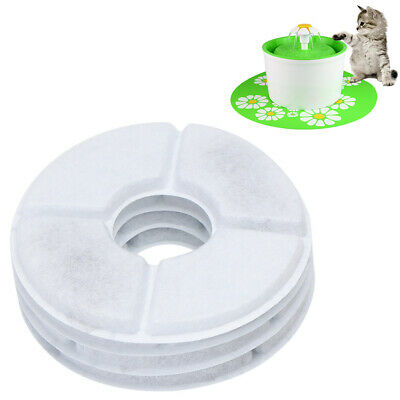 2*Flower Style Filter Fountain Pet For Automatic Cat Dog Water Drinking A5CX