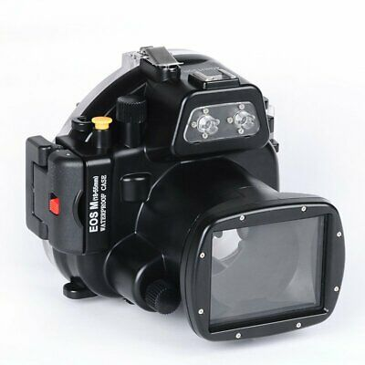 40M/130ft Waterproof Underwater Housing Case Cover For Canon EOS M 18-55mm Lens