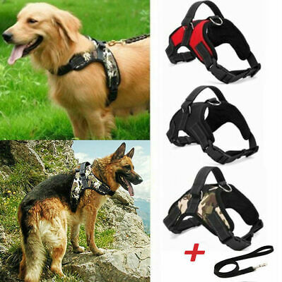 No Pull Pet Dog Harness Vest Collar Nylon Adjustable Soft Hand Strap S/M/L/XL
