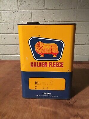 Golden Fleece Gallon Oil Tin