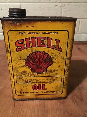 Shell Quart Oil Tin