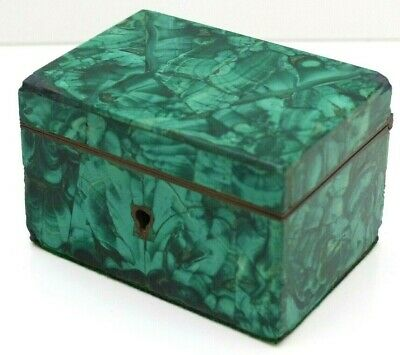 RARE Antique 19th Century Malachite / Ormolu Table Box / Casket – Russian?