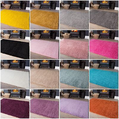 Soft Thick Fluffy Shaggy Rugs Non Shed Bedroom Bedside Cheap Small Hearth Mats
