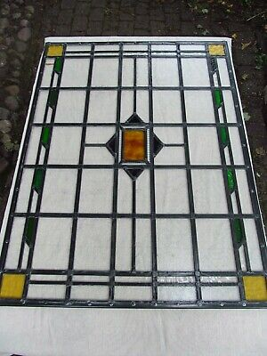 Large FULLY RESTORED Original EDWARDIAN Stained Glass Window Panel 786 by 1052mm