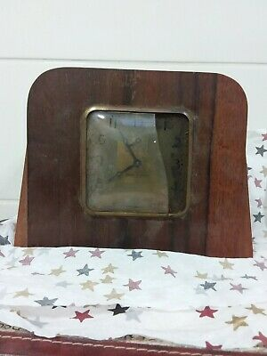 Antique Art Deco Mantle Clock For Parts Or Repairs