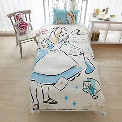 NEW Alice in Wonderland Disney Princess Bed Pillow Watercolor Art Cover 3 S