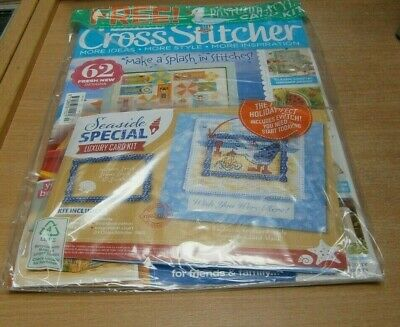Cross Stitcher magazine #346 JUL 2019 Coastal Dresser, Gnome Sweet Gnome + Kit