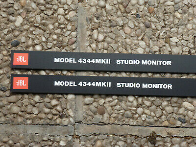 Pair JBL 4344 MKII Front panel ( for grill ) logos Labels two pieces.