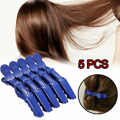 5Pcs Matte Salon Hairpin Hairdressing Crocodile Hot Hair Clips Grip Froste Clamp