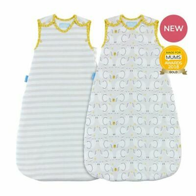 The Gro Company Elephant Wash Love Wear 1.0tog Grobag Twin Pack - 18-36 months