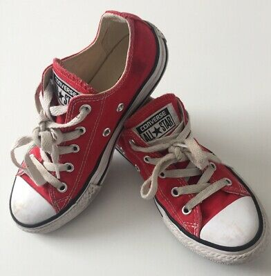 Red All Star Converse Lace Trainers Size UK 13.5 EUR 1