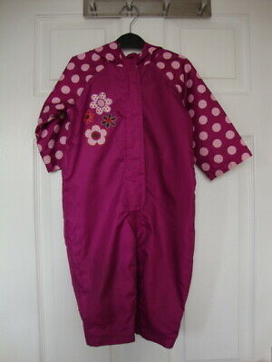 Mothercare Baby Girls Claret Waterproof All-in-One Suit size 9-12 months