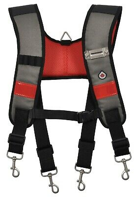 CK Magma MA2727 Universal Fit Padded Work Tool Belt Support Suspenders Braces