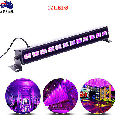 12LED UV Stage Light Black Wall Washer Lamp Fixture DMX Bar KTV DJ Disco Party