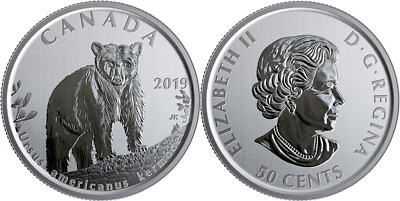2019 Ursus Americanus Kermodei 50-cent Coin Canada's Wildlife Treasures Bear