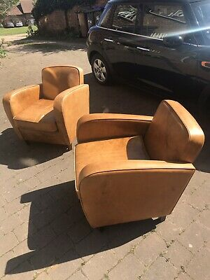 Laura Ashley Leather Armchair X 2