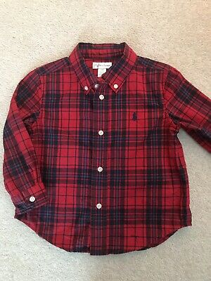 Ralph Lauren Boys Red Checked Shirt 24 Months (18-24 Months)