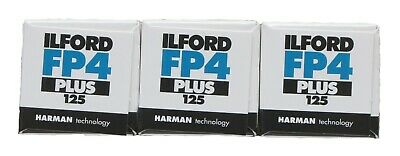 Ilford FP4 Plus 125 - 120 - Pack of 3 Film
