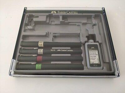 FABER CASTELL TG1 College Set (Incompleto) con 4 plumillas y tinta