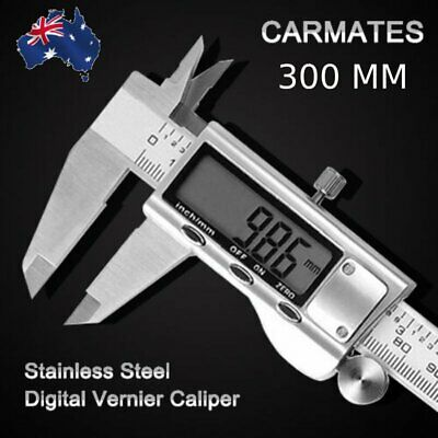 300mm Electronic Digital Vernier Caliper Stainless LCD Screen Gauge with Case AU
