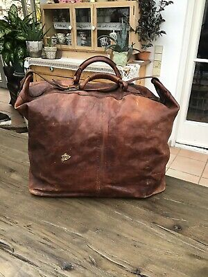 Reisetasche The Bridge Weekender Tasche XXL Braun Leder Vintage Bag