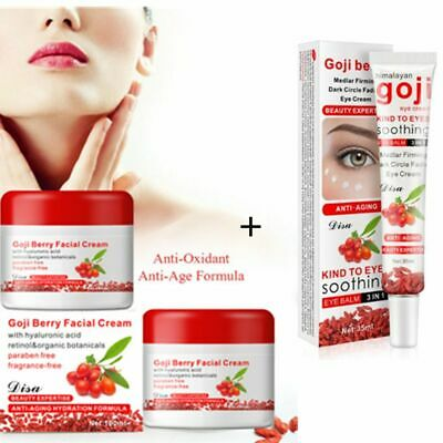 Brand GOJI cream 100g facial anti aging anti wrinkle creams Cool Skin care Set