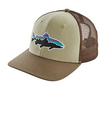 dc7ee0ad3 PATAGONIA FITZ ROY Trout Trucker Hat - New With Tags - Weathered Stone