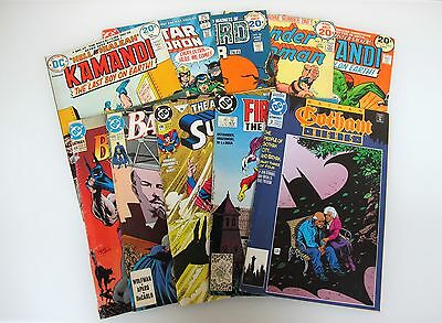 Lot of 10 DC Comic Books 1973-1993 Batman Superman Jack Kirby Kamandi