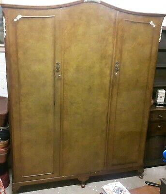 Vintage Walnut of London Triple Wardrobe