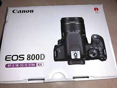 Canon EOS 800D DSLR Camera with EF-S 18-55mm Lens Kit - Black