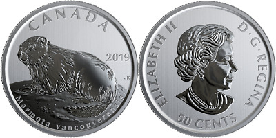 2019 Marmota Vancouverensis 50-cent Coin Canada's Wildlife Treasures
