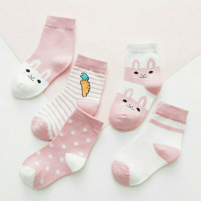 5 pair Boy Girl Cute Baby Socks Cartoon Cotton Socks NewBorn Infant Toddler 0-6Y