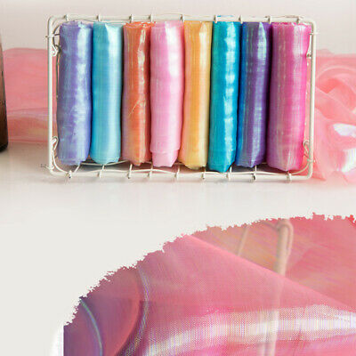 Two Tone Sheer Organza Fabric Voile Iridescent Crinkle DIY Wedding Fabric Sewing